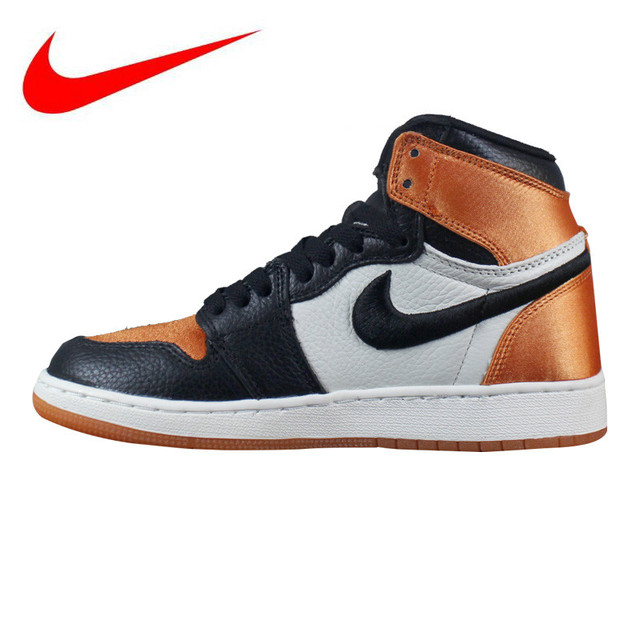 be798d342 Original Nike Air Jordan 1 Satin Women s Walking Shoes