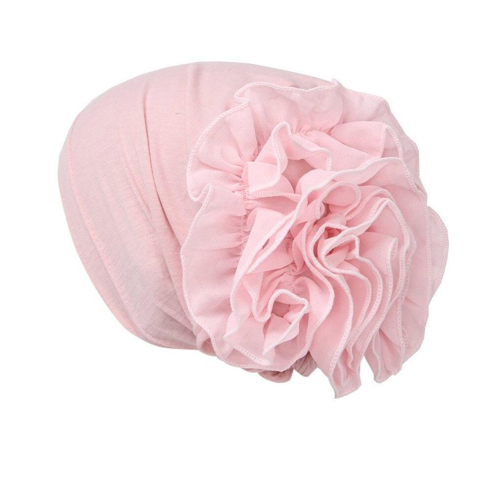 Women Flower Muslim Ruffle Cancer Chemo Hat   Beanie   Scarf Turban Head Wrap Cap 315