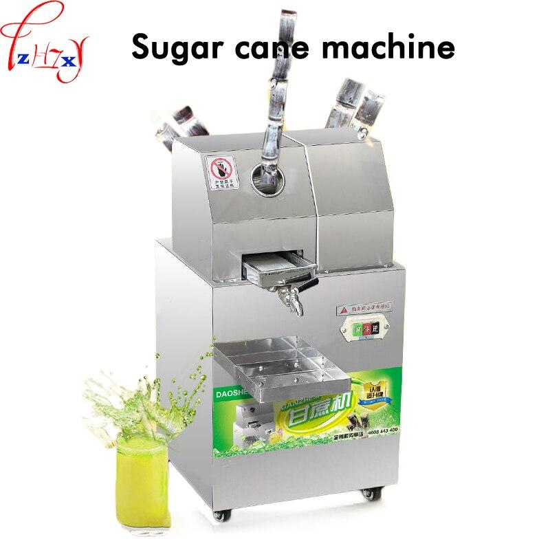 220 v 300 KG/H comercial aço Inoxidável máquina de suco extrator de suco de cana de Açúcar de cana espremedor Espremedor de Cana SXC-80