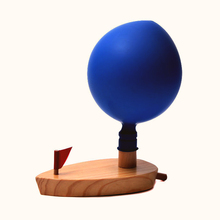 Children's Wooden Balloon Boat super fun swimming bath toy water science physics toy Xmas Gift Education toy for boys girls