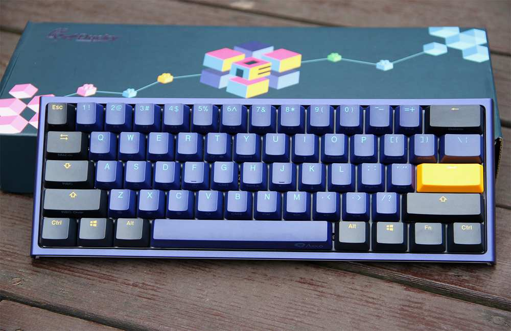 US $112 19 49% OFF Akko Ducky One 2 Mini Cherry MX Switch PBT Keycap 60%  Mechanical Keyboard Professional Gaming Keyboard-in Keyboards from Computer  &