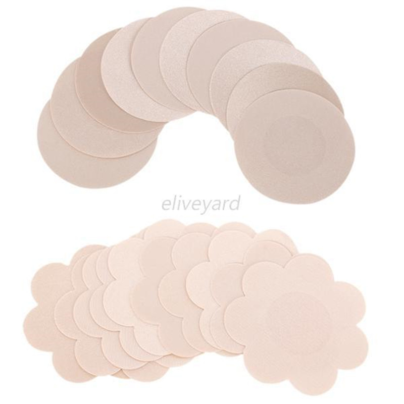 Nipple Covers Pads Patches Self Adhesive Disposable Sexy Nipple Cover Pads Round flower-shaped Intimates