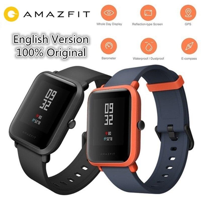 цена Original Xiaomi Huami AMAZFIT Smartwatch International Version IP68 Waterproof GPS Fitness Tacker Heart Rate Xiaomi Smart Watch