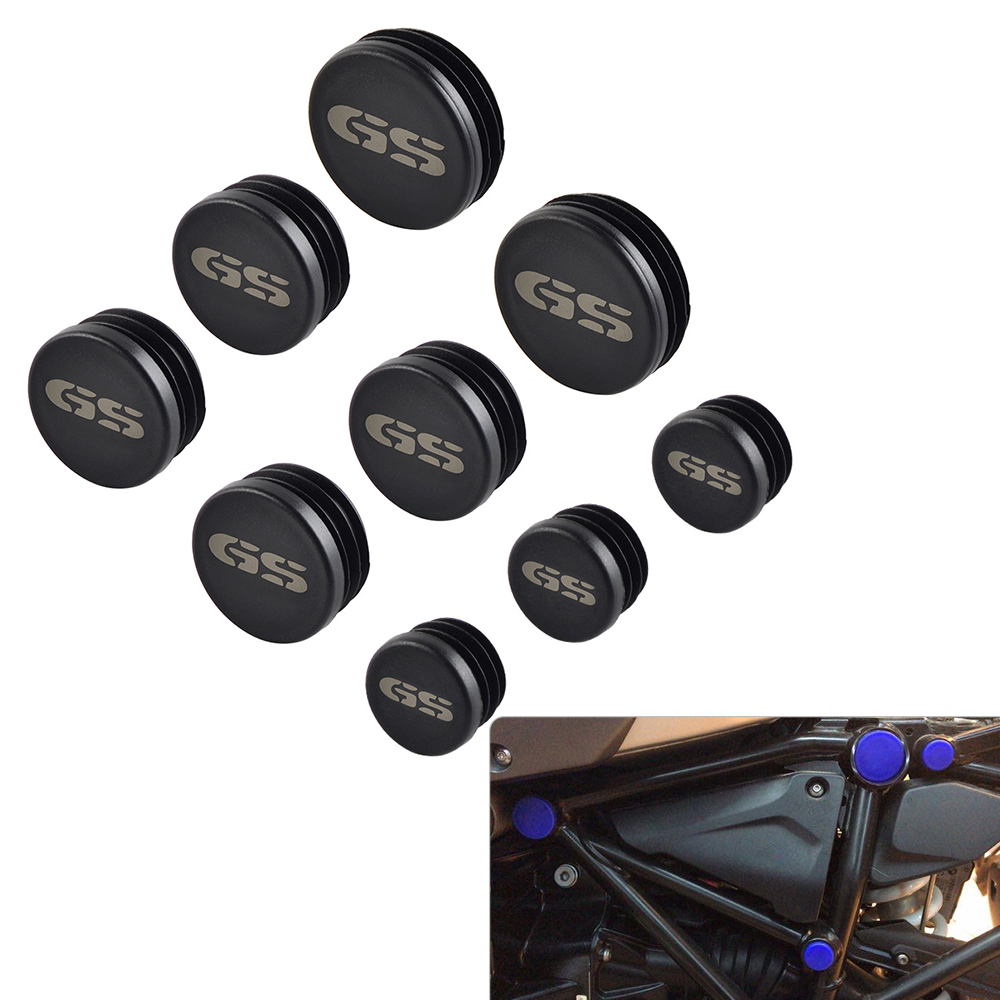 9pcs Frame Hole Caps Cover Plug Set for <font><b>BMW</b></font> R1200GS Adventure R <font><b>1200</b></font> <font><b>GS</b></font> R1200 <font><b>GS</b></font> R 1200GS Adventure ADV 2017 2018 image