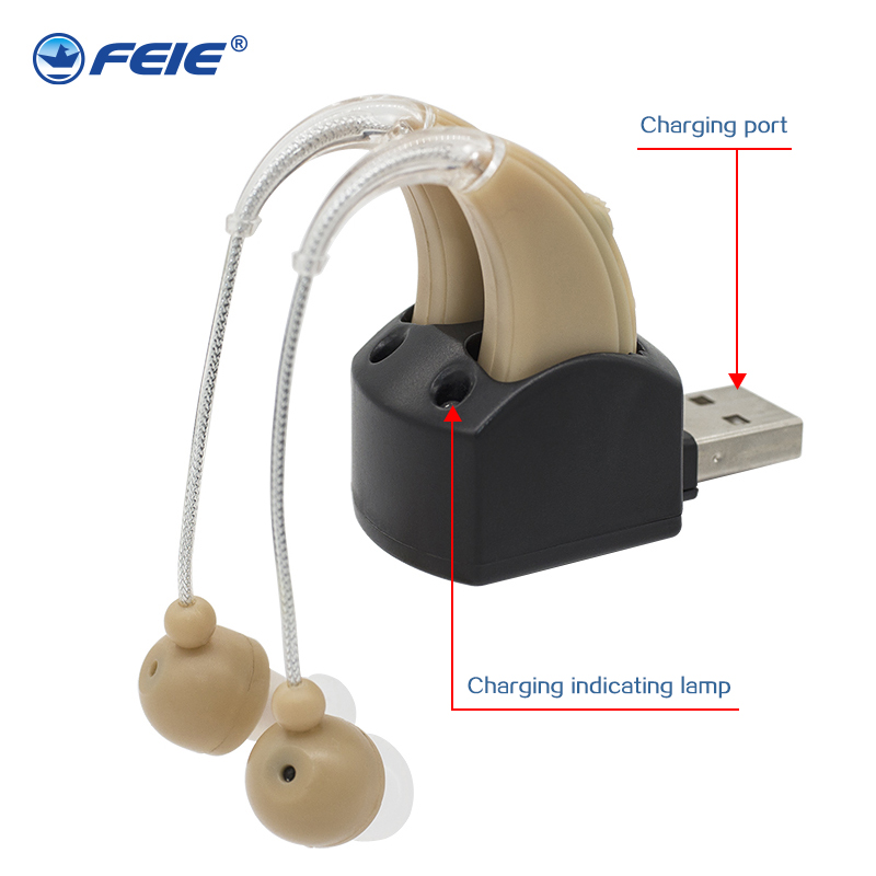 S-109S Rechargeable ear hearing aid mini device sordos ear amplifier hearing aids in the ear for elderly apparecchio acustico new rechargeable ear hearing aid mini device ear amplifier digital hearing aids behind the ear for elderly acustico eu plug