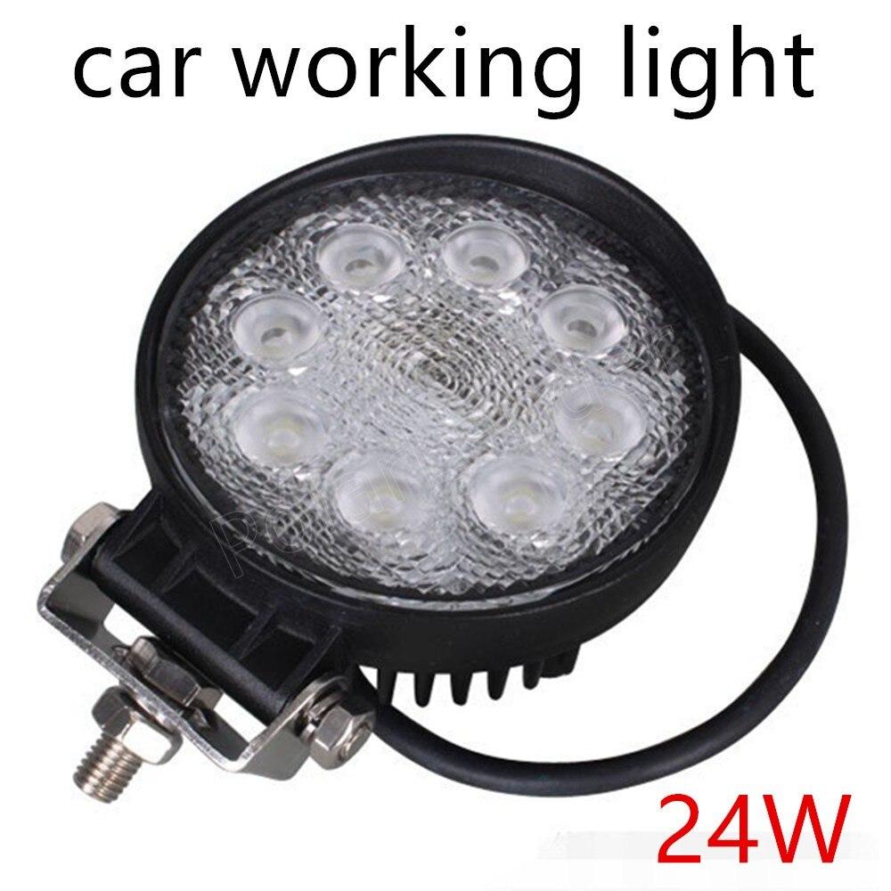 2 шт. 24 Вт Круглый Светодиодный Светлое пятно света Противотуманные Лампа для внедорожных автомобилей грузовик головного света 12 В 24 В Самая...