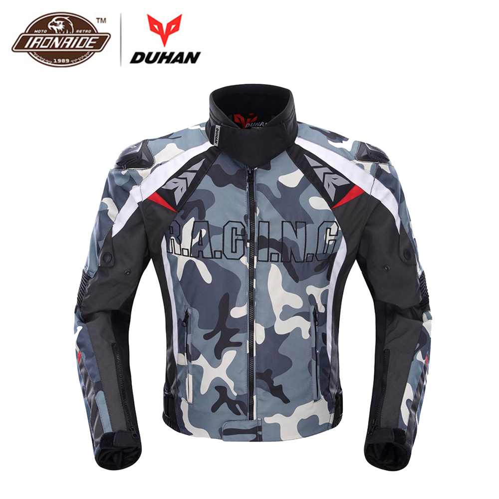 DUHAN Motorcycle Jacket Men Protective Gear Camouflage Cold-proof Knight Riding Jackets Motorcycle Clothing Motorbike Jacket duhan motorcycle jacket moto men winter waterproof cold proof biker jacket men motorbike riding clothing jacket racing