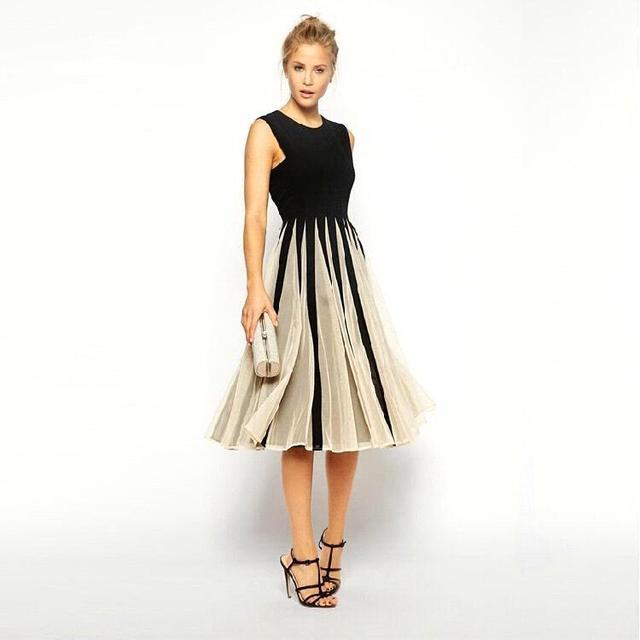 Women Summer style Casual Dress 2016 Vestidos Sleeveless Black ...