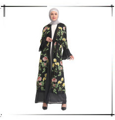 vestido cardigan longo robe vestidos jubah kimono