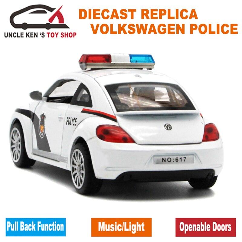 1:32 Skala 15CM Duljina Diecast Model Buba Policijski automobili - Dječja i igračka vozila - Foto 6