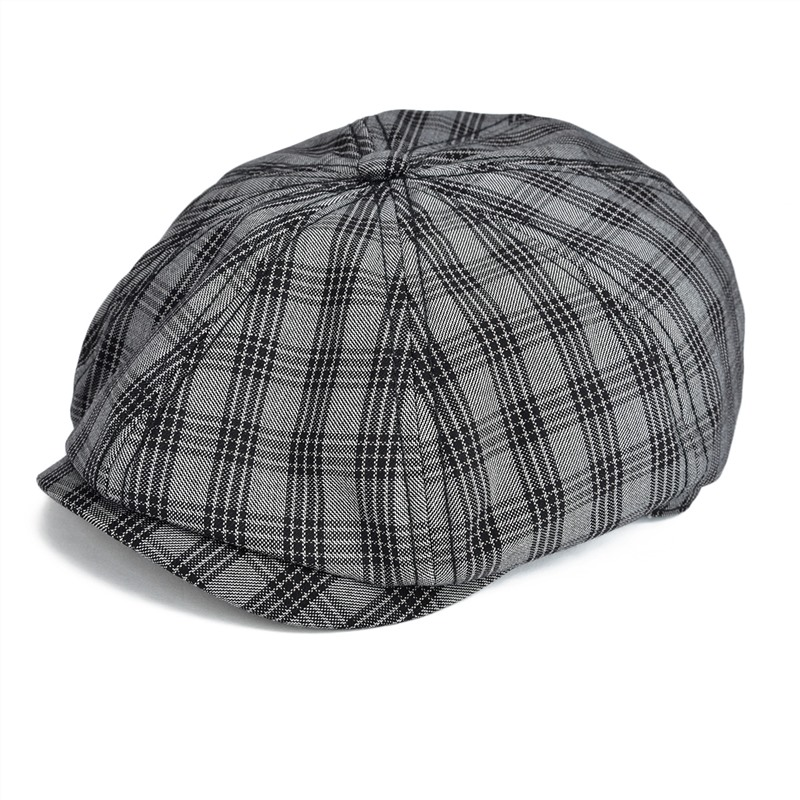 803de42b420e0 VOBOOM Summer Newsboy Cap Men Women Flat Cap Plaid Check Window Gatsby  Cabbie Driver Hat Retro Vintage Beret Boina 103-in Newsboy Caps from  Apparel ...