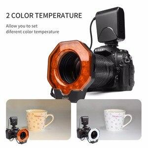 Image 4 - SCHIEßEN Led Macro Ring Flash Light für Canon 650D 6D 5D Nikon D3200 D3500 D5300 D7100 D7500 Olympus e420 Pentax k5 K50 DSLR Kamera