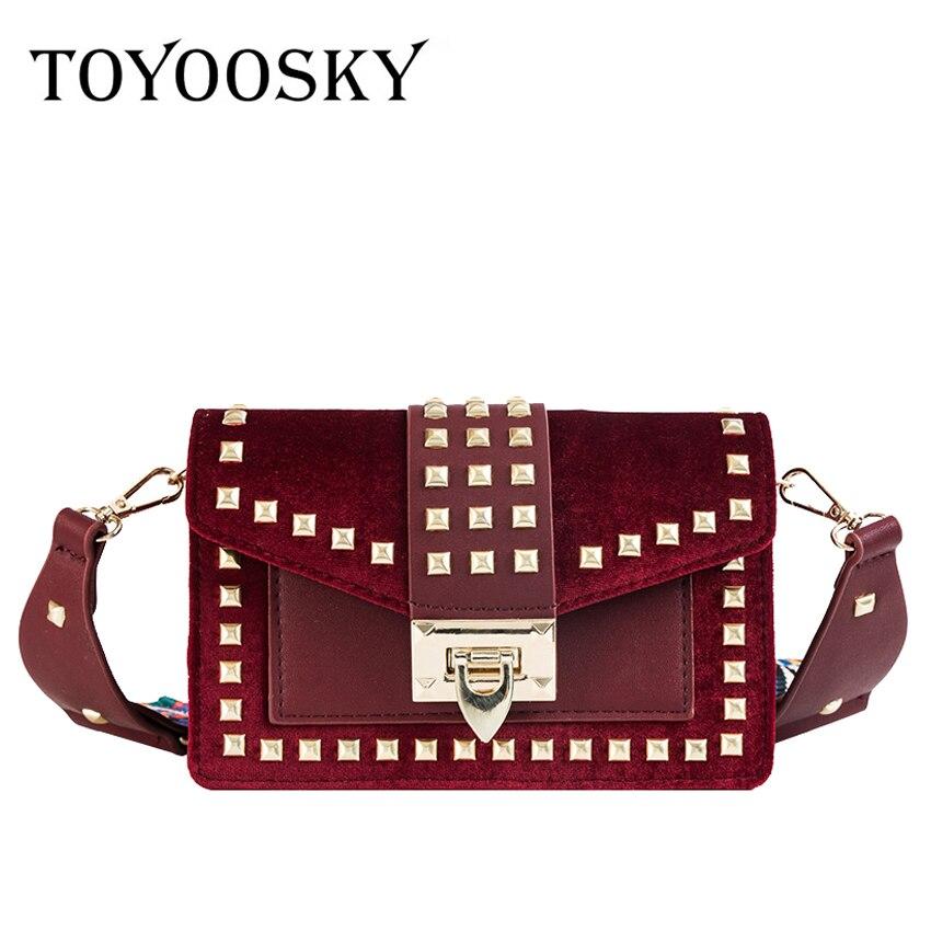 Pelle Di In Design A Lusso Bag khaki Spalla Black Nabuk red Piccola Larghe Moda Messenger Flap Rivet Borse Cinghie Marchio Donne Femmina Toyoosky wxvYZXOq6
