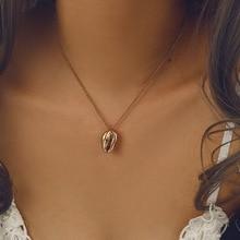 Gold Sea Shell Pendant Necklace for Women Summer Beach Jewelry Bohemian Seashell Choker Boho Womens Necklaces 2019