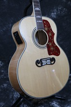 """TOp quality  Starshine SR-RJ-200A electric acoutic guitar 43"""" solid spruce top  nature flamed maple back and side fishman EQ"""