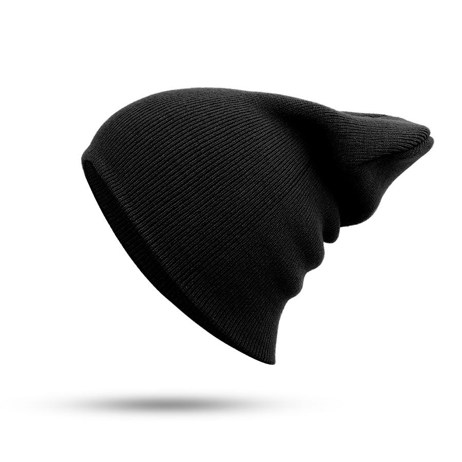 Hat Female Unisex Cotton Blends Solid Warm Soft HIP HOP Knitted Hats Men Winter Caps Women's Skullies Beanies For Girl Wholesale 3