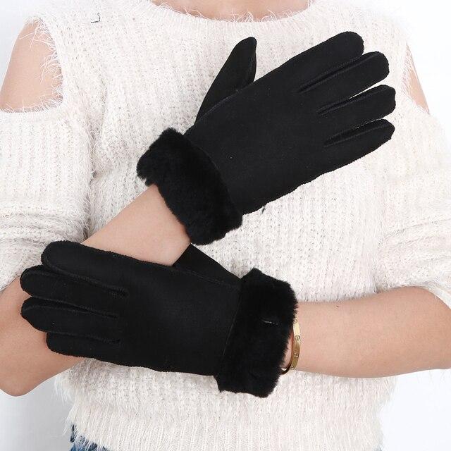 5eb26a4a99846 2017 Naturel suede conduite gants dames de mode en daim laine Gants femme  marque chaud doigt