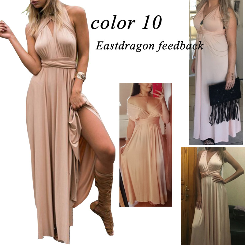 Sexy Women Multiway Wrap Convertible Boho Maxi Club Red Dress Bandage Long Dress Party Bridesmaids Infinity Robe Longue Femme 10