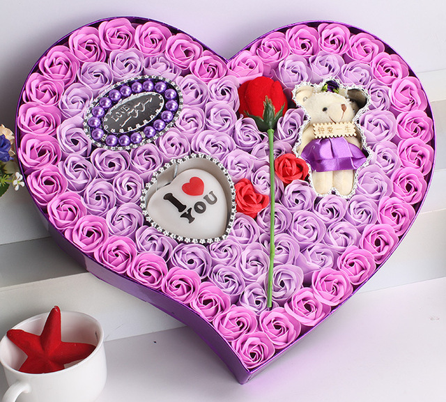 rose flower soap gift lantern jewelry bear creative valentines day gift girlfriend soap flower soap