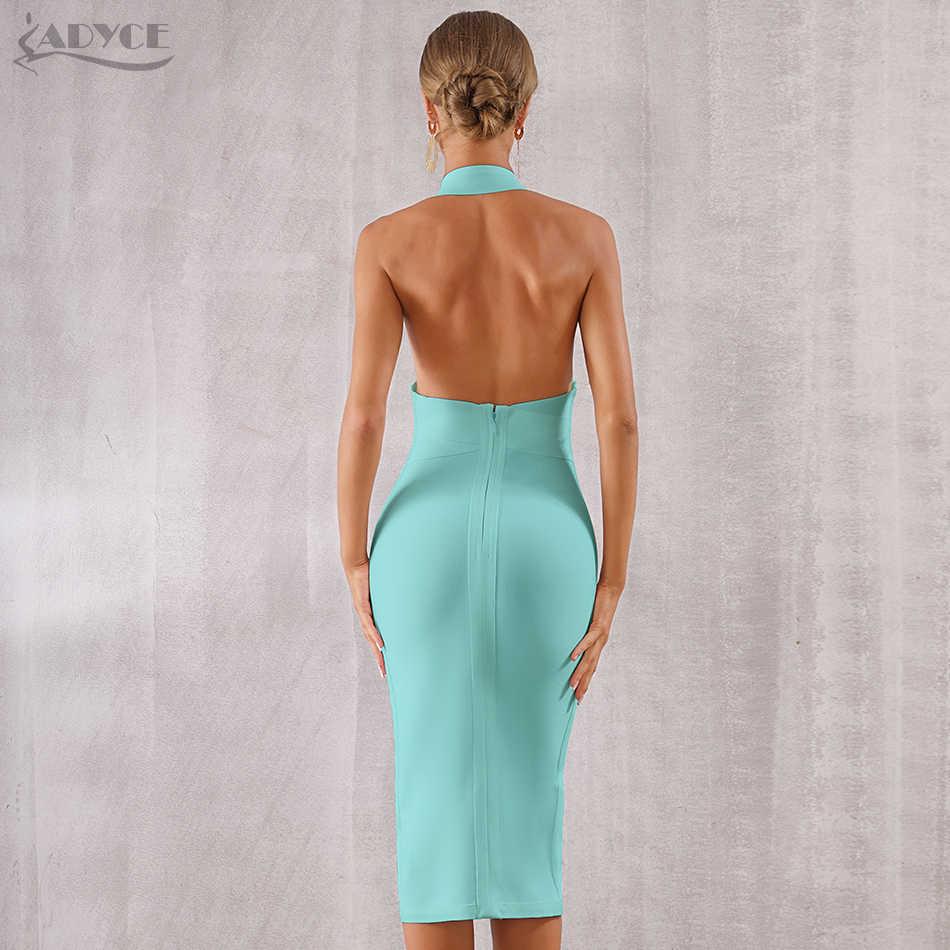 Adyce сексуальное 2019 новое летнее Бандажное платье для женщин Vestido облегающее кружевное платье на бретельках Клубное платье Midi одежда для подиумов и вечеринок