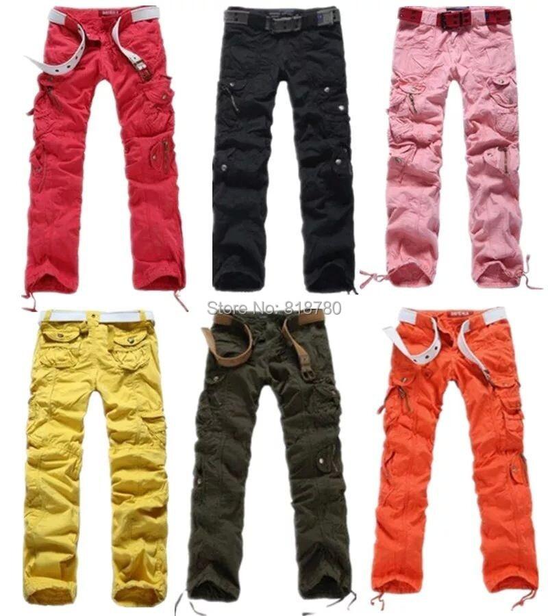 comprar ropa de mujer de moda mujeres cargo pants chicas harem hip hop danza sudor pantalones delgados rectos pantalones