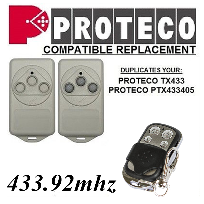 PROTECO TX433,PTX433405 Remote Control Replacement 433mhz Fixed Code Gate Remote