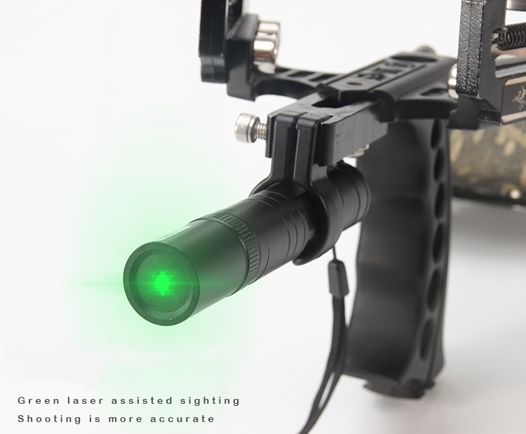 New Good Quality Powerful Wonderful Slingshot Green Laser Light For Hunting Shooting Outdoors new laser new sergeant slingshot g5