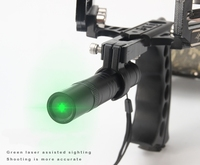 New Good Quality Powerful Wonderful Slingshot Green Laser Light For Hunting Shooting Outdoors