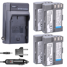 4x EN-EL3e batteries 7.4V 2400mAh EN EL3e Camera Battery + Car Charger Kit  For Nikon ENEL3E EL3E D30 D50 D70 D90 D70S D300