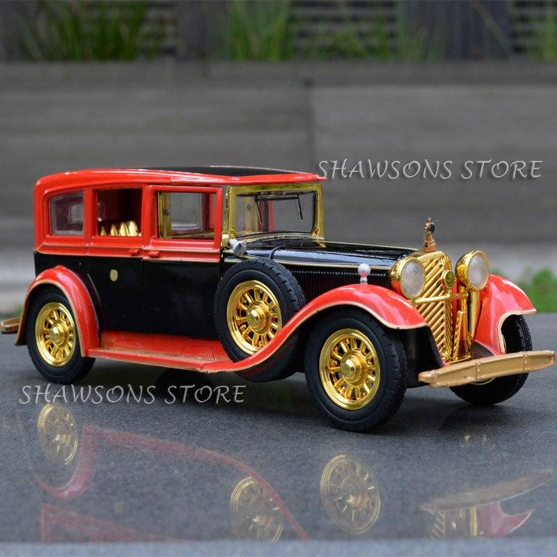 1:32 Diecast Metal Car Model Toys Vintage Rolls Royce Classic Replica Pull Back W/ Sound Light