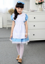 Cosplay Alices Adventures in Wonderland Costume Childrens Wear Young Girl Apron Dress Meidofuku Maid