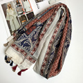 Leaves Abstract Scarf Women Tassels Shawl Summer Journey blanket scarves and stoles NEW
