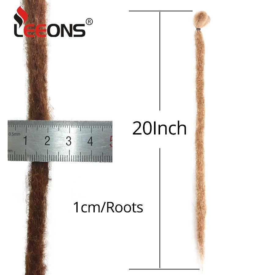Leeons Handgemaakte Dreadlocks Haar Extensions Gehaakte Haar Zwart Bruin Synthetisch Haar 1 Strengen Dreadlock Voor Vrouwen En Mannen 20 Inch