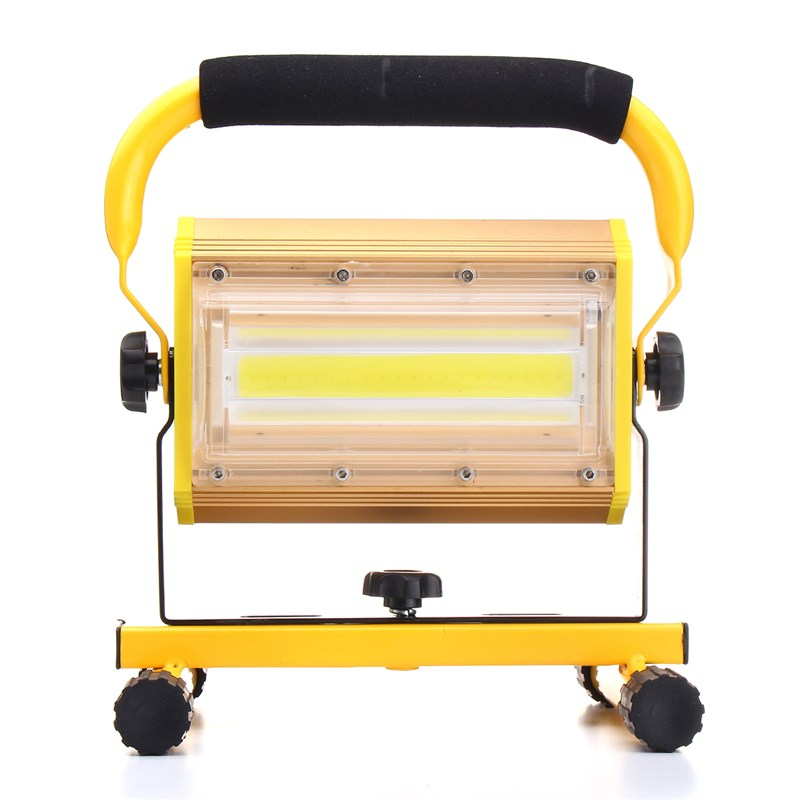 Dimmable COB 100W Portable LED Floodlight Cordless Work Light Rechargeable LED Flood Light Spot Outdoor Working Camping Lamp cob led flood light dimmable 100w portable led floodlight cordless work light rechargeable spot outdoor working camping lamp
