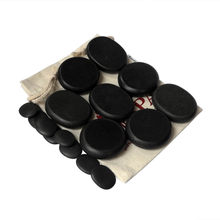Tontin Hot massage basalt stone Beauty Salon SPA tool with canvas bag CE and ROHS 16pcs/set(China)