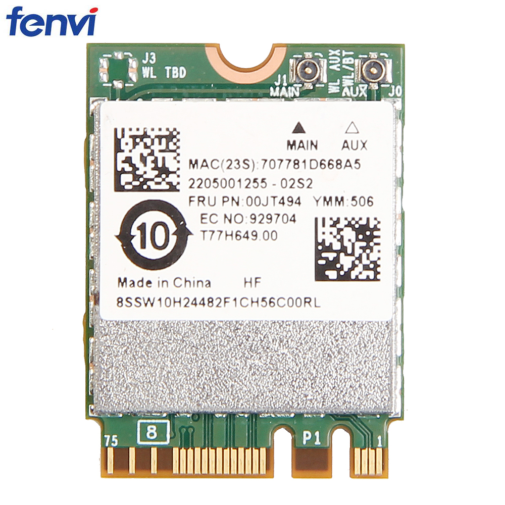 Wireless Wifi Card Adapter BCM94350ZAE For Lenovo 802.11ac Dual Band BT4.1 867Mbps BCM94350 M.2/NGFF