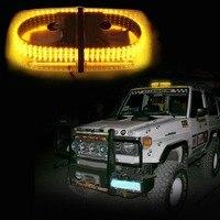 01015 vídeo 12 V 240LED Âmbar Roof Top Hazard Emergência Aviso Flash LED Beacon Strobe Light Mini Bar Luz para SUV 4WD ATV