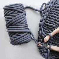 60M DIY Hand Knitting Spin Yarn Ball Natural Core Yarn Chunky Yarn Felt Wool Roving Yarn Machine Washable Blanket Supplies
