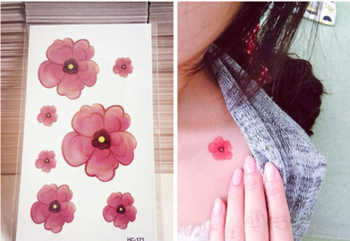 Free Shipping Tattoo Paste The Cherry Blossom Tattoo Stickers