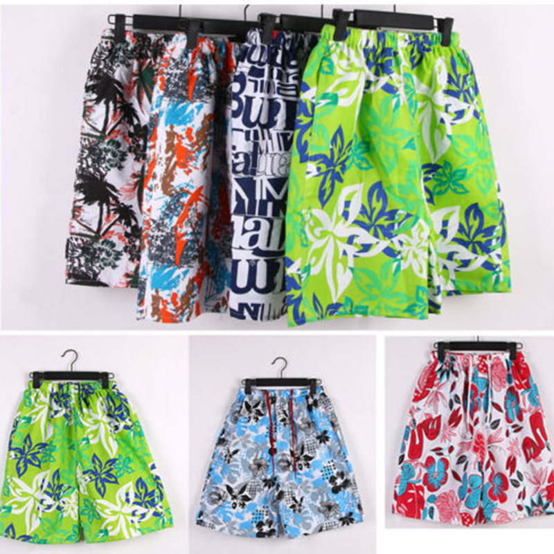 Loose Pants Flat Men's Beach Surf   Board     Shorts   Printed Summer Random