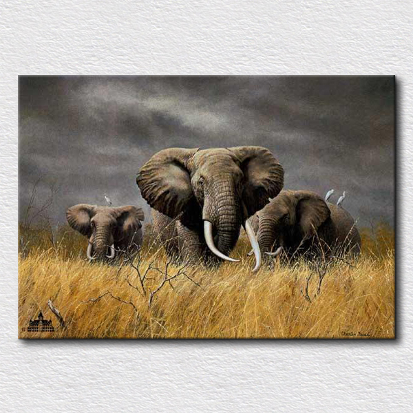 Olifant schilderij koop goedkope olifant schilderij loten for Schilderij olifant