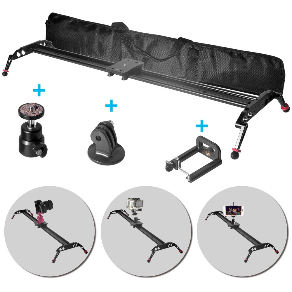 New arrived and free shiping Fomito professional 120cm 47 Video Track Slider Dolly Stabilizer System for