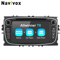 Navivox 2 din Car Video DVD Player Android7.1.2 Radio GPS Navigation For Focus 2009 2010 2011 bluetooth Screen Wifi
