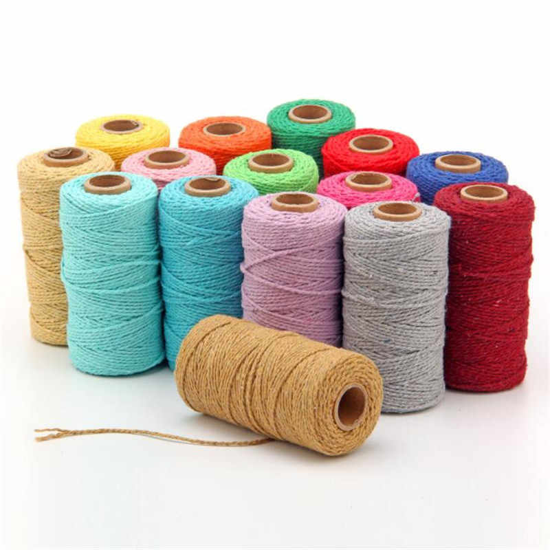 100 M Natuurlijke Jute Hessische Jute Twijn Cord Hennep Touw Party Wedding Gift Wrapping Cords Discussie DIY Scrapbooking Craft Decor