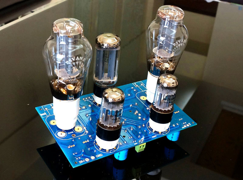 Luxury 2 0 Channel 300B 6SN7 5U4G Single ended Class A Tube Amplifier DIY KIT For
