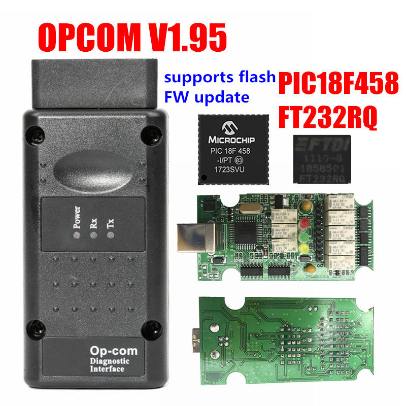 Image 2 - 2019 OPCOM Firmware V1.59 V1.65 V1.70 V1.78 V1.95 V1.99 PIC18F458+FTDI Chip OP COM 1.99 Newest SW 2014 Op com For Opel-in Car Diagnostic Cables & Connectors from Automobiles & Motorcycles