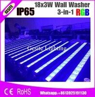4 יח'\חבילה נופש תאורת DMX512 בקרה חיצונית 70 W RGB LED מכונת כביסה קיר עמיד למים IP65 18x3 W LED הארה