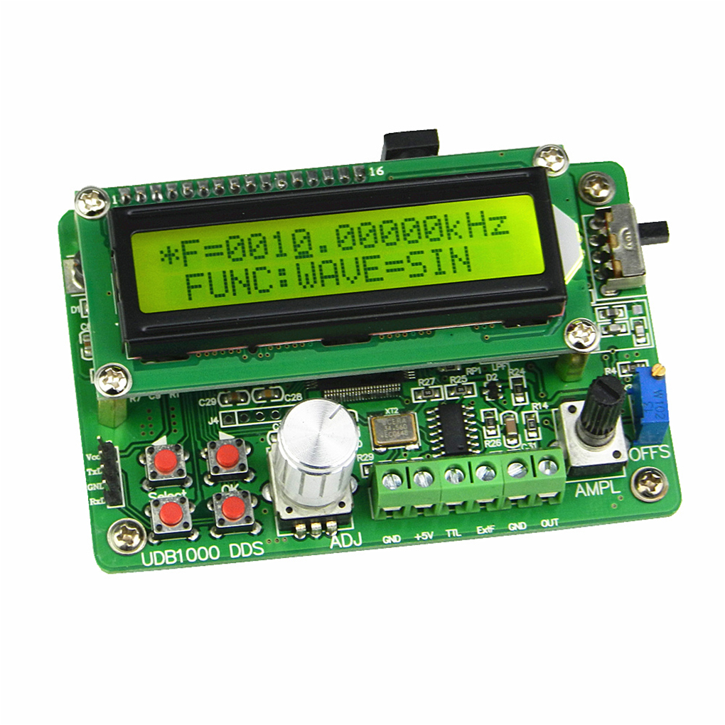 все цены на Multi-functional DDS Signal Source Module 5MHz Sine Wave Frequency Signal Generator with 60MHz Frequency Counter онлайн