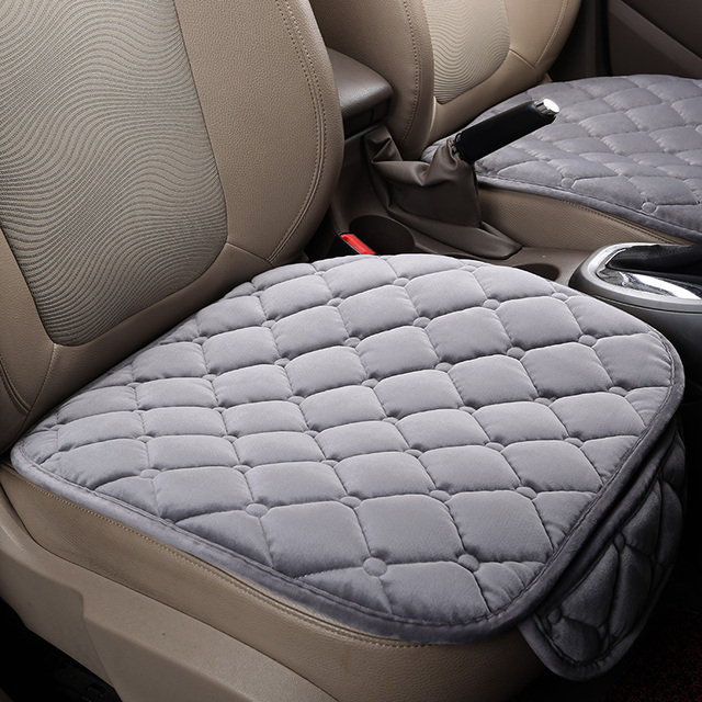 Warm Car Seat Cover Cushion Universal Short Plush Velvet Front Car Chair Pad Vehicular Auto Accessorie Winter Seat protector