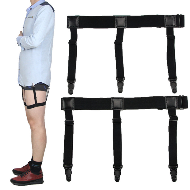 Adjustable Shirt Holder Stays Elastic Men Suspenders Gentleman Leg Braces Business Tirantes Uniform Suspender Shirt Stay(China)